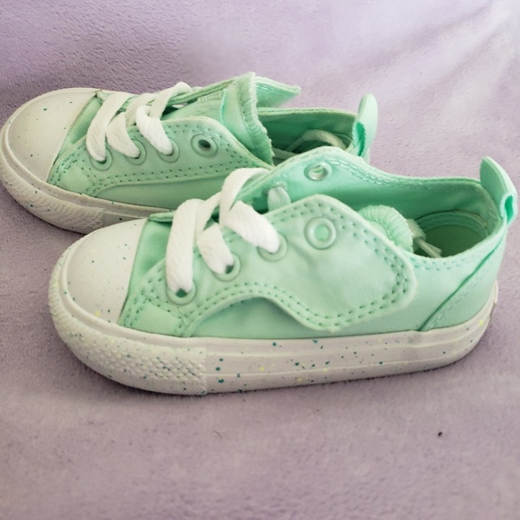 43bdcfb4a66176 Converse Other - New with box! girl NEW converse size 5 mint green